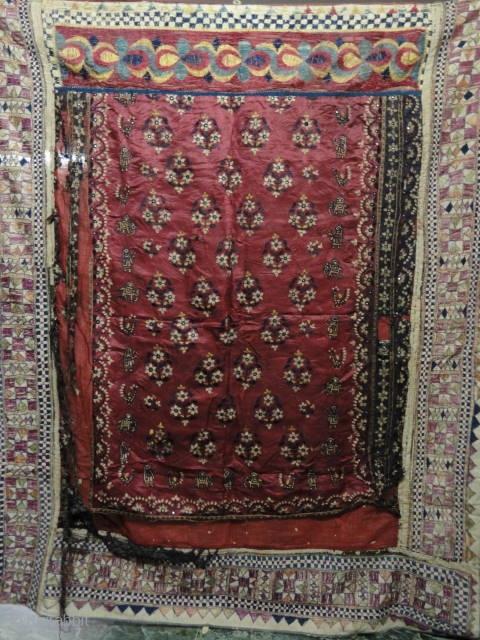 Antique Mochi work piece from Gujarat..  19th Century   Size : 153 x 128 cm