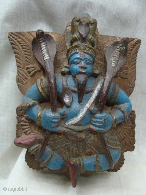 Wooden Polycrome Garuda 