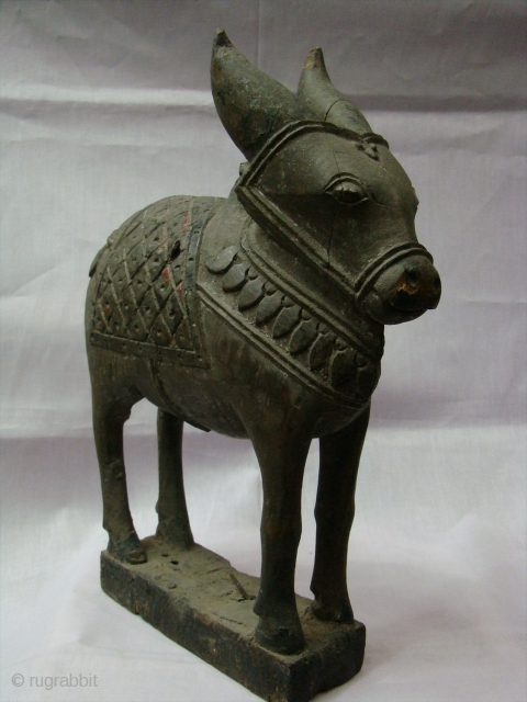 Wooden Nandi(Bull) Toy.