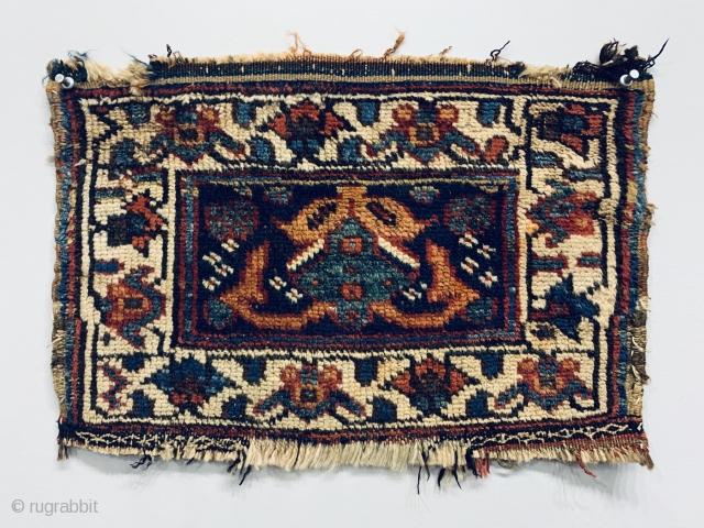 Antique Kurdish Chanteh,  Age is circa 1880 and Size is 45 x 31 cm.                    ...