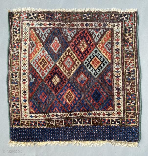 Beautiful Antique Kurdish Jaff bag, size is 76 x 76 cm