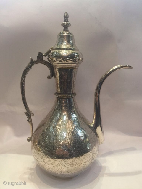Ottoman Armenian Silver Pitcher