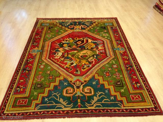 serf carpet old age 115 Persian date 1323 measures 205/155 entac