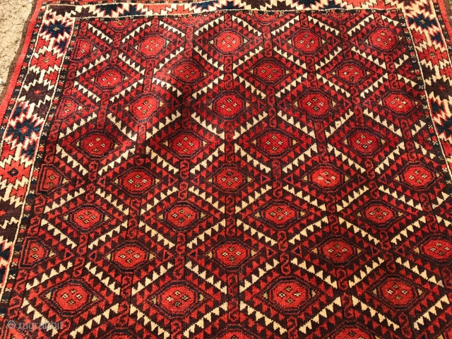 antique turkmen  chiodor rug  cm 1.60 x 1.09  good  condition