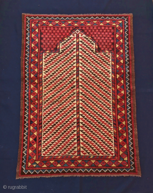 ERSARI  TURKMEN PRAYER RUG  CM 0,95 X 0,68 1880/90 CIRCA  GOOD  CONDITION NATURAL COLORS