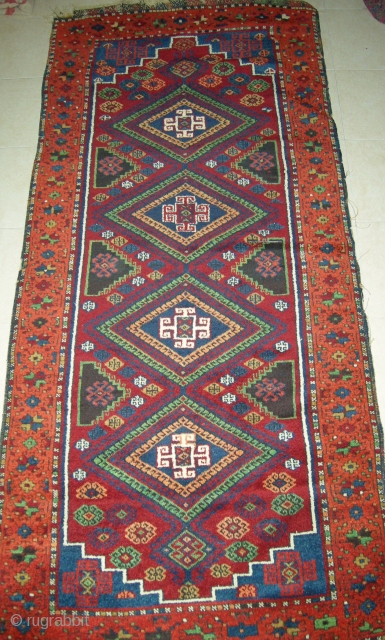 EAST  ANATOLIAN  RUG  230  X 101 SOLD