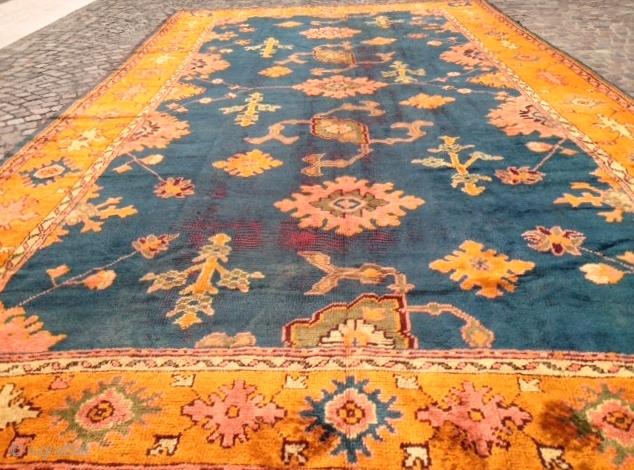 antique anatolian ushak carpet cm 4.65 x 2.62  1900  circa
