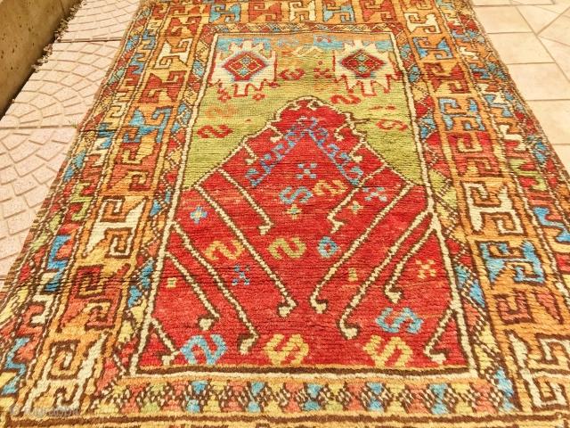 ANATOLIAN AKSARAY PRAYER RUG CM 1,60 X 1.00 1830/50 CIRCA AKSARAY OF MY CITY