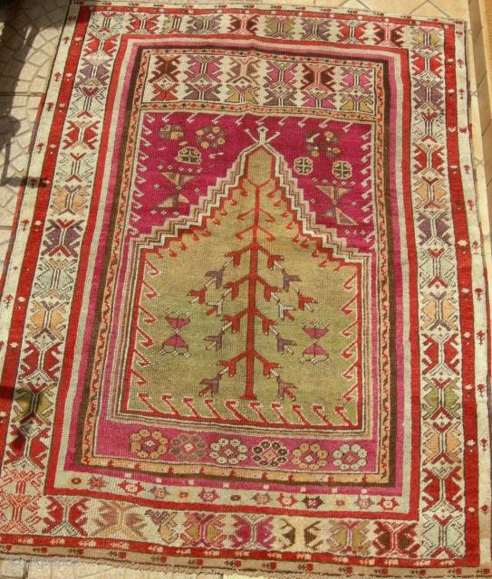 Antique anatolian prayer rug cm 150 x 115