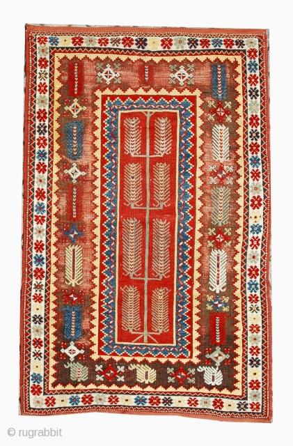 ANATOLIAN MELAS CARPET  CM 1.46 X 1,05  .1850 circa exhibition the sartirana textile show 17 - 20 semptembre 2015 SOLD