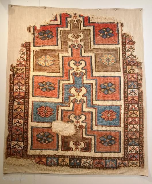 ANATOLIAN KARAPINAR  FRAGMENT CM 1.36 X 1.10  1800  CIRCA