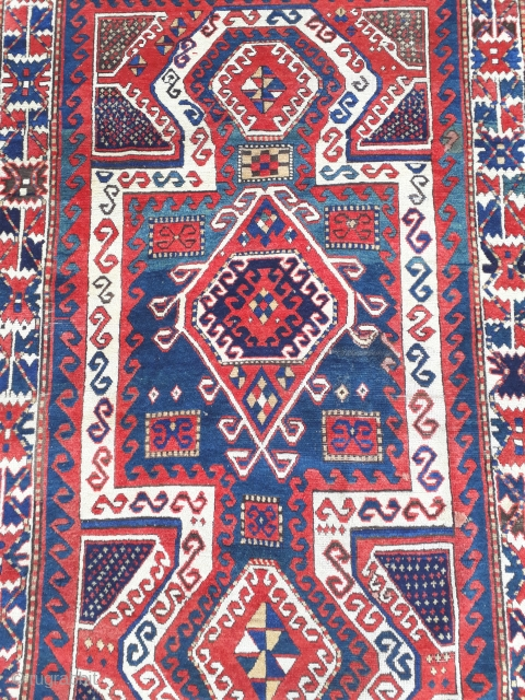 CAUCASIAN   KAZAK  SEVAN ANTIQUE  1850 CIRCA    EXHIBITING AT THE Sartirana Textile Show 