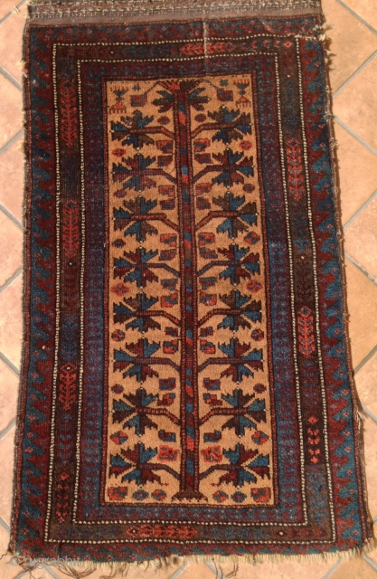 PERSIAN BALUCH BALIST camel  ground   rug  FUL PILE CM 0,83 X .050