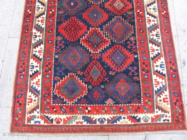 antique  jaff RUG  19tH  century   SOFT WOOL EXCELLENT CONDITION NATURAL COLORS