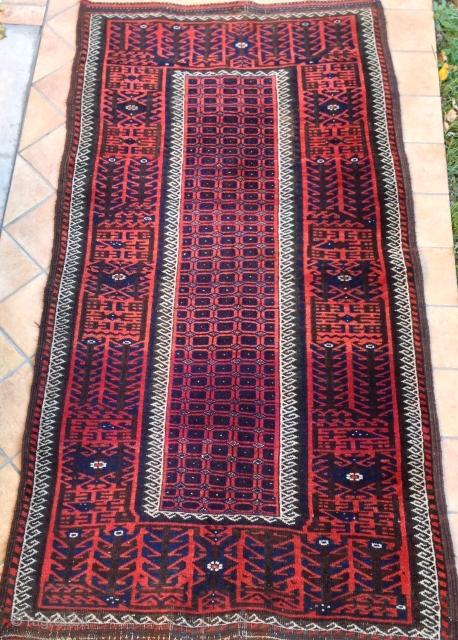 antique Beautiful colors  beluch khorasan mint Condition  cm 1.63  x 0.83
