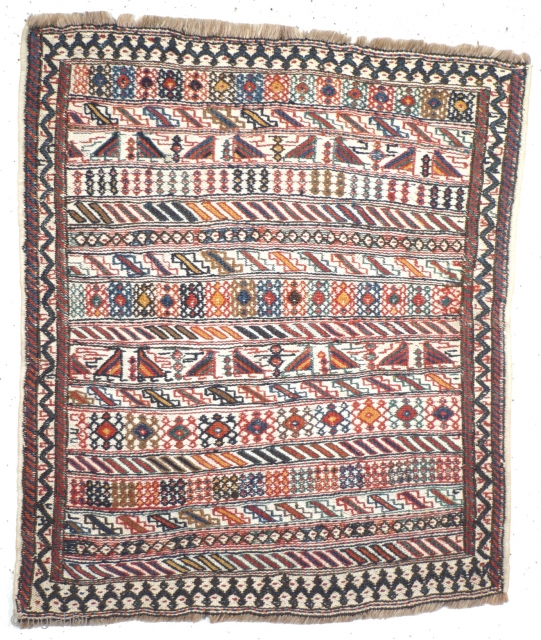 # 1027 Luri-Bakhtiari Khorjin Front, 44/51 cm, Southwest Persia, 1st quarter 20th century, natural dyes, fine sumak, very good condition! 