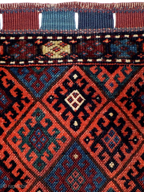 # 965 Rare Jaf Khorjin Front, 53/58 cm, Kurdistan, late 19th century, beautiful natural dyes (two different Greens), fair pile. For more offers of wonderful collector's pieces please visit our website:  www.oriental-textile-art.de  ...