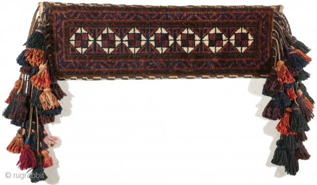 # 1120 Complete Baluch Camel Neck Trapping, 21/70 cm (without tassels), West Afghanistan, 1st quarter 20th century, outstanding wool, good condition! For a complete overview of our Autumn Exhibition 2017 please look  ...