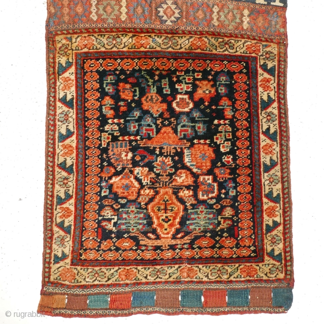 Year-End Sale 2017: Top Collector's Piece - Top Price: # 1093 Kurdish Khorjin Half, 58/129 cm, West Persia, 2nd half 19th century, rare design, beautiful back side, very good condition! For a  ...