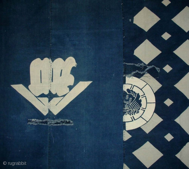 """Boro futon cover, Japan, early Showa (circa 1930), cm 205x169. There is a class of Japanese folk textiles known as boro, which literally translated means """"rags"""" or """"ragged."""" Broadly speaking, boro textiles  ..."""