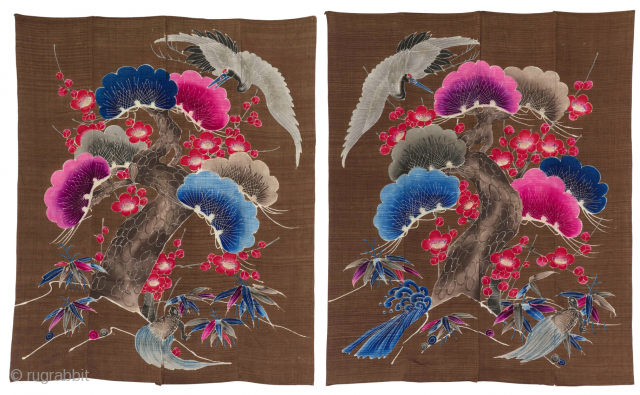 Rare Tsutsugaki Futonji Couple. 
