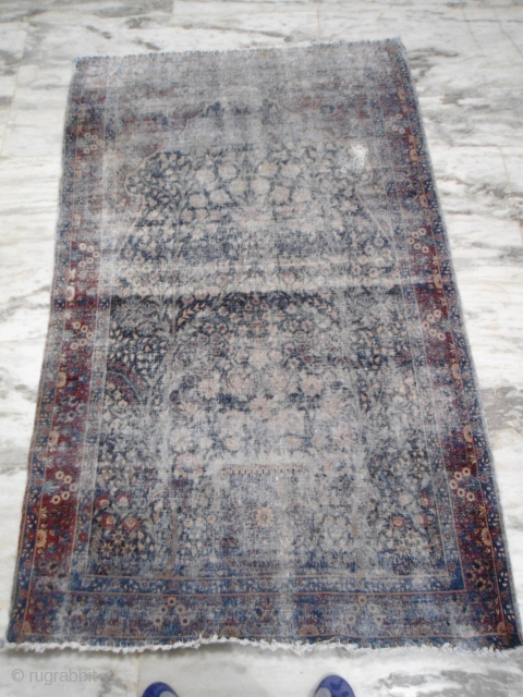 Antique Kerman Tree of life rug