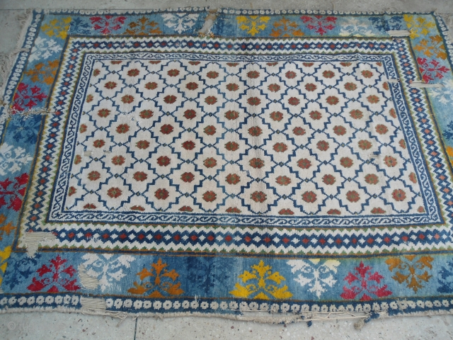 CIRCA 1920s Agra cotton rug , India