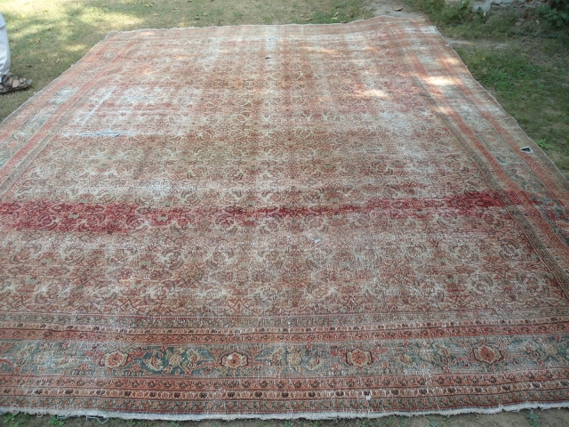 Antique Agra carpet , Northern India