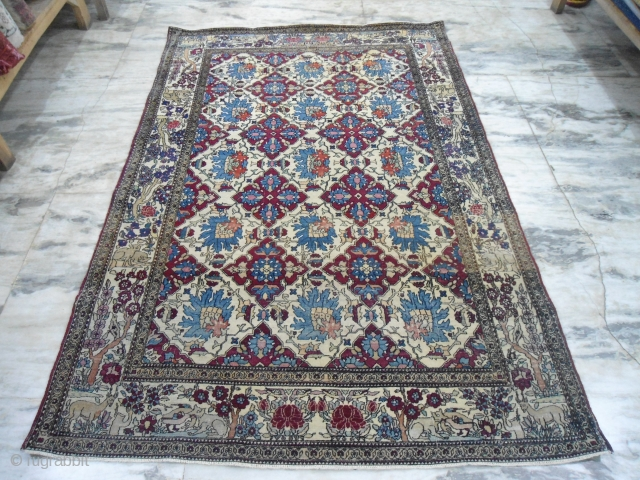 Early 20th century collectible Persian Isfahan rug