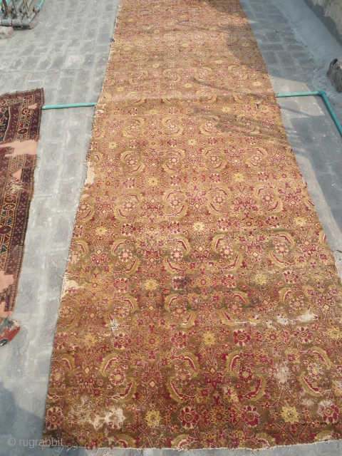 antique Agra fragment runner