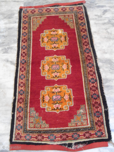 Antique Tibetan rug  3 ft x 5 ft Approx.