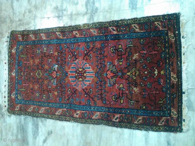 Antique Persian rug 2x4 ft