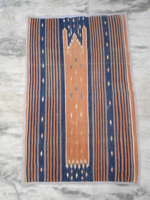 ca. 1920s saf cotton dhurrie,  origin : India 3.5 x 2.3 ft