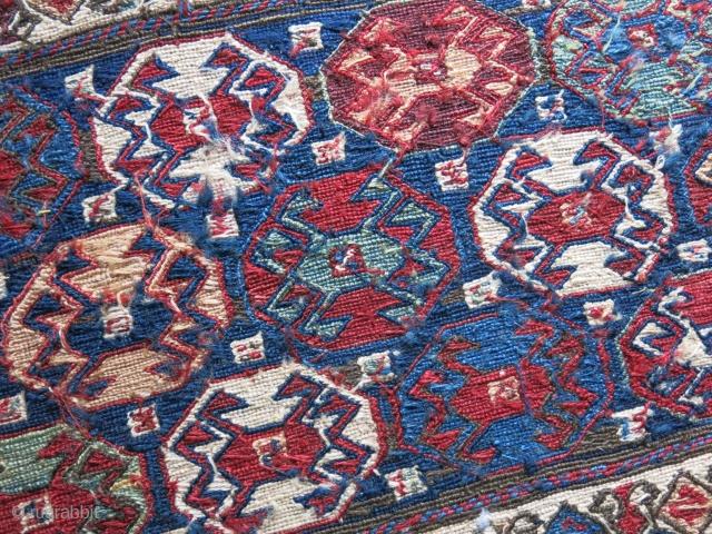 "Sahsavan Reverse sumak bedding bag end panel.Great condition with natural colors. size: 18"" X 15"" - 46 cm X 38 cm"