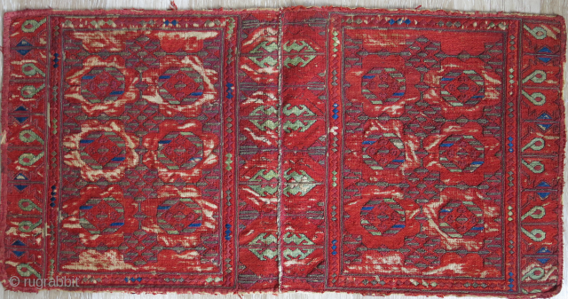 Balkan - Prpbably Macedonian silk and metallik also mixed  with some wool embroidery, saturated colors. It was brobably a bag but tuned into a panel to display both sides. Must be  ...