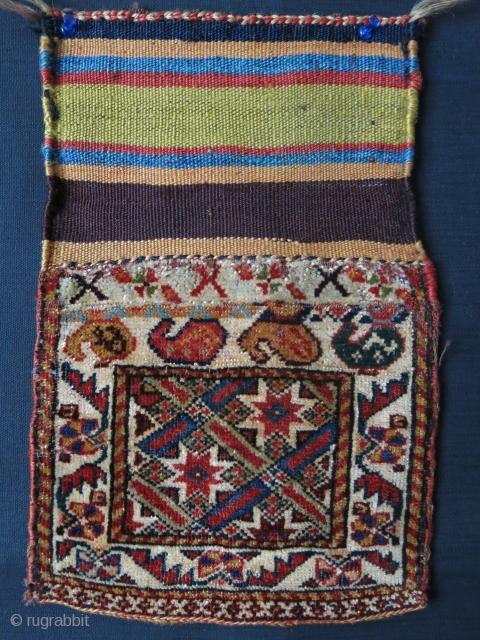 "Qashkai small pile bag / Chanteh size:9.5"" X 7.5"" -- 24 cm X 19 cm"
