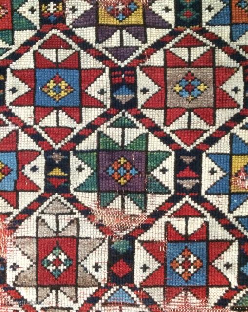 Caucasian carpet 1800 or 1820s size 210x135cm