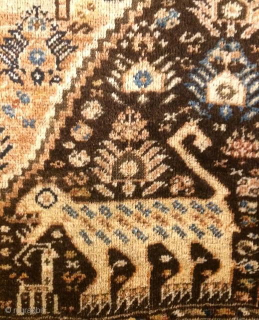 Rare Qhasgai carpet size 210x137cm