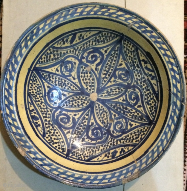 Persian Ceramic plate 17.or 18.th century
