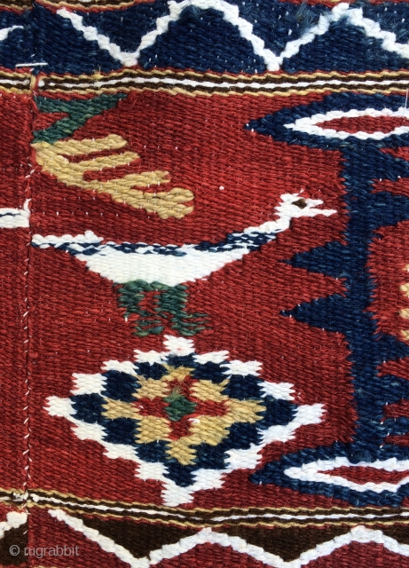Balkan kilim all colours natural dyes size 220x112cm