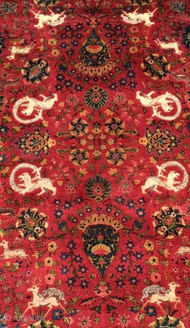 Anatolian silk carpet size 185x130