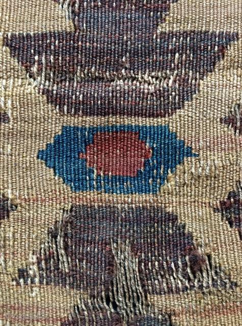 very old Caucasian fragmand kilim size 110x80cm