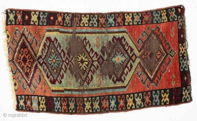 "Antique yastik. International buy a yastik day. Combine them for discounts! Makes a great gift. 20"" x 33"""