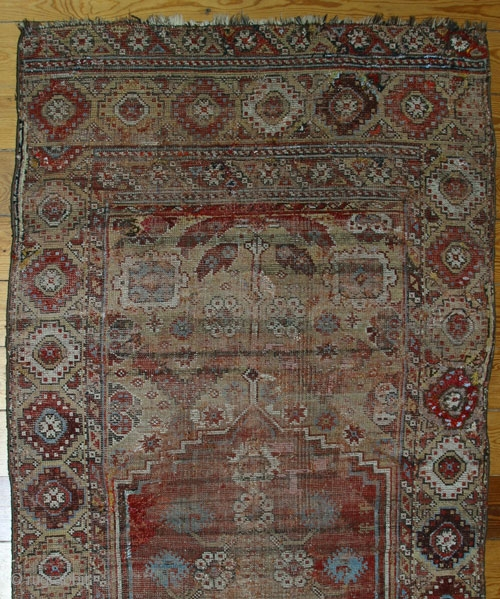 18th century Konya rug,W/W,225x110 cm.