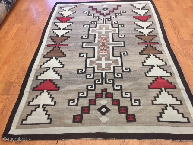 Native American Navajo rug of a striking effect size 4-2 x 6-2.