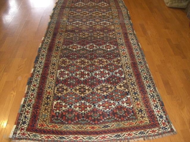 Kurdish rug Size: 9'-1''x3'-6''