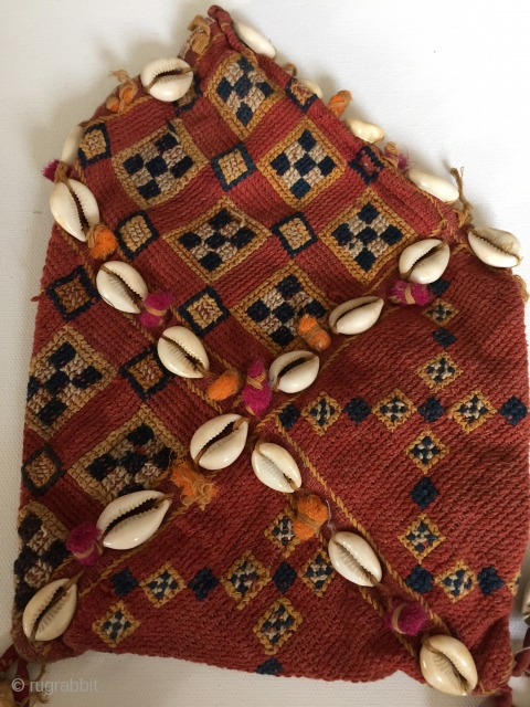 Small Vintage Banjara Purse - well used. https://wovensouls.com/collections/the-sunday-sale/products/e532-small-vintage-banjara-tribal-textile-purse-handmade-traditional-weaving