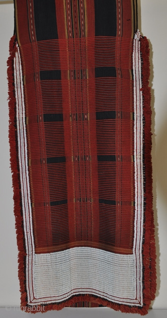 Beaded Loin Cloth (Shoulder Drape) of the Attapeu Hilltribe. Circa 1900. More images on wovensouls.com
