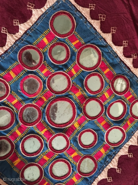 859 Vintage Banjara Odhana Shawl with large mirrors.