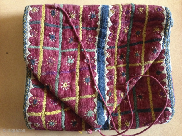 Beautiful Banjara Padded Pouch - See more details here: https://wovensouls.com/collections/diwali-celebration-sale  https://wovensouls.com/products/759-antique-banjara-embroidery-textile